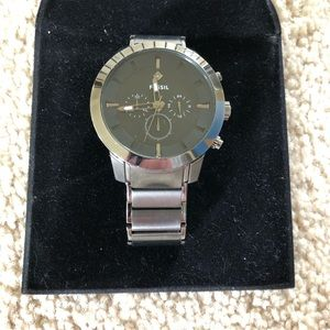 Fossil Mens Dress Stainless Steel Watch - Gunmetal